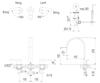 Vòi chậu lavabo INAX LFV-7100B van nóng lạnh 3 lỗ