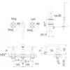 Vòi chậu lavabo INAX LFV-8100B van nóng lạnh 3 lỗ
