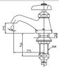 Vòi chậu lavabo INAX LF-1 lạnh
