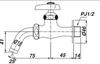 Vòi gắn tường INAX LF-7R-13 lạnh