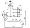 Vòi gắn tường INAX LF-12-13 lạnh