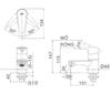 Vòi chậu lavaboINAX LFV-21Slạnh 1 lỗ (FC)