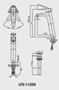 Vòi chậu lavabo INAX LFV-112SH đặt bàn cổ cao