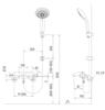 Sen tắm nhiệt độINAXBFV-5103T-3C