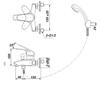 Bộ sen tắm INAX BFV-283S-3Cnóng lạnh