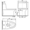Bồn cầu 1 khối American Standard WP-1830 nắp đóng êm
