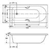 Bồn tắmAmerican Standard 7140-WT âm sàn