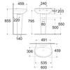 Chậu lavabo American Standard WP-F511/F711 chân dàitreo tường