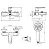 Bộ sen tắm American Standard WF-B211 nóng lạnh