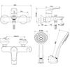 Bộ sen tắm American Standard WF-0911 nóng lạnh