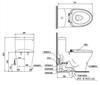 Bàn cầu một khối TOTO MS889DE2 (MS889DRE2), nắp rửa cơ