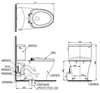 Bồn cầu hai khối TOTOCS767E4nắp rửa cơ