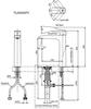 Vòi chậu lavabo TOTO TLG04307V nóng lạnh cổ cao