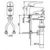 Vòi chậu lavabo American Standard WF-1501 nóng lạnh 1 lỗ (FC)