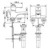 Vòi chậu lavabo American Standard WF-6502nóng lạnh 3 lỗ (EC)