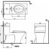 Bồn Cầu 1 Khối INAX AC-900R/CW-S15VN Nắp Rửa Cơ