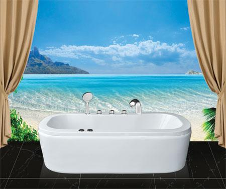 Bồn tắm oval EurocaEU0-1780 massageAcrylic