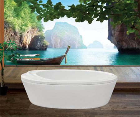 Bồn tắm oval EurocaEU0-1680 massageAcrylic
