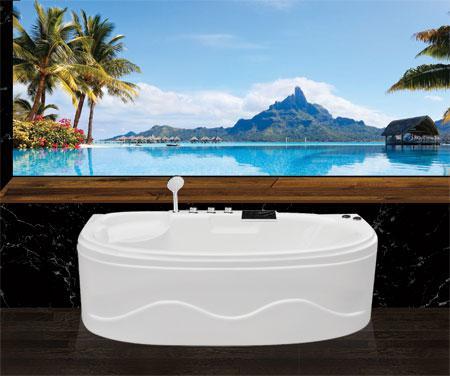 Bồn tắm oval EurocaEU2-1680 massageAcrylic