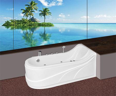 Bồn tắm oval Euroca EU3-1680 massage Acrylic