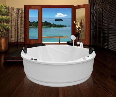 Bồn tắm oval EurocaEUT-1700massageAcrylic