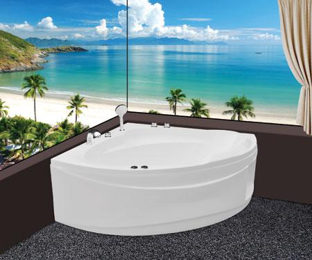 Bồn tắm góc EurocaEU1-1400massageAcrylic