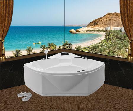 Bồn tắm gócEurocaEU2-1400massageAcrylic