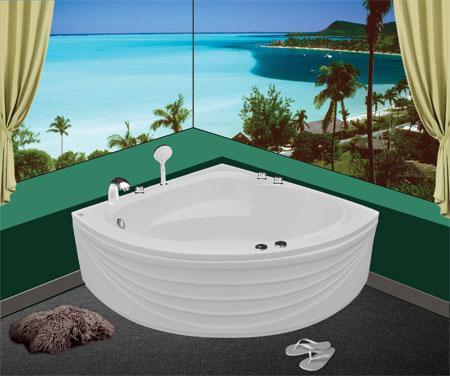 Bồn tắm gócEurocaEU1-1300massageAcrylic