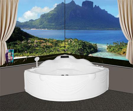 Bồn tắm gócEurocaEU2-1300massageAcrylic
