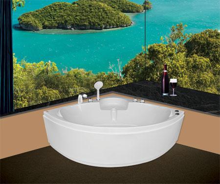 Bồn tắm gócEurocaEU3-1300massageAcrylic