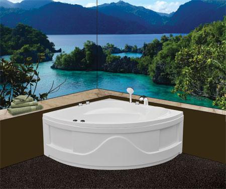 Bồn tắm gócEurocaEU2-1200massageAcrylic