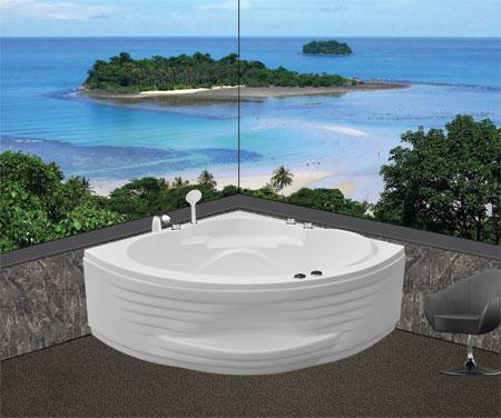 Bồn tắm gócEurocaEU5-1200massageAcrylic