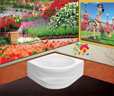 Bồn tắm gócEurocaEU1-9090massageAcrylic