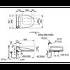 Nắp điện tử INAX CW-KA22AVN điều khiển từ xa
