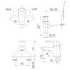 Vòi chậu lavabo INAX LFV-211S nóng lạnh 3 lỗ