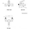 Bộ sen tắm American Standard WF-1411 nóng lạnh