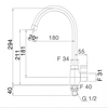Vòi bếp INAXSFV-212S nóng lạnh