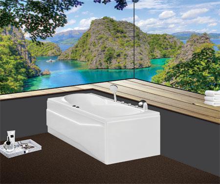 Bồn tắm nằmEurocaEU1-1780massageAcrylic