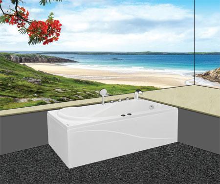 Bồn tắm nằmEurocaEU4-1780massageAcrylic