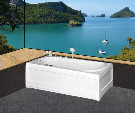 Bồn tắm nằmEurocaEU1-1680 massageAcrylic