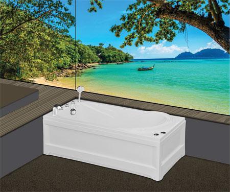 Bồn tắm nằmEurocaEU1-1675massageAcrylic
