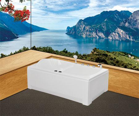 Bồn tắm nằmEurocaEU2-1570 massageAcrylic
