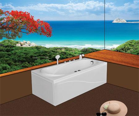 Bồn tắm nằmEurocaEU1-1575 massageAcrylic