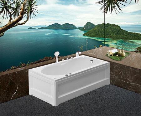 Bồn tắm nằmEurocaEU1-1270 massageAcrylic