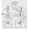 Bồn tiểu nam INAX U-417V treo tường