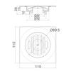 Phễu thoát sàn INAXPBFV-110