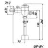 Van xả bồn tiểu INAXUF – 5V kiểu xả nhấn