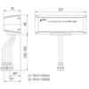 Van xả INAX OKUV-120S(A/B)cảm ứng dùng pin