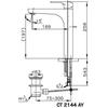 Vòi lavabo COTTOCT2144AY nóng lạnh thân cao
