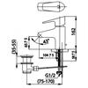 Vòi lavabo COTTOCT520F nóng lạnh